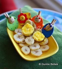 Yumurta Sarılı Muz Püresi Gurme